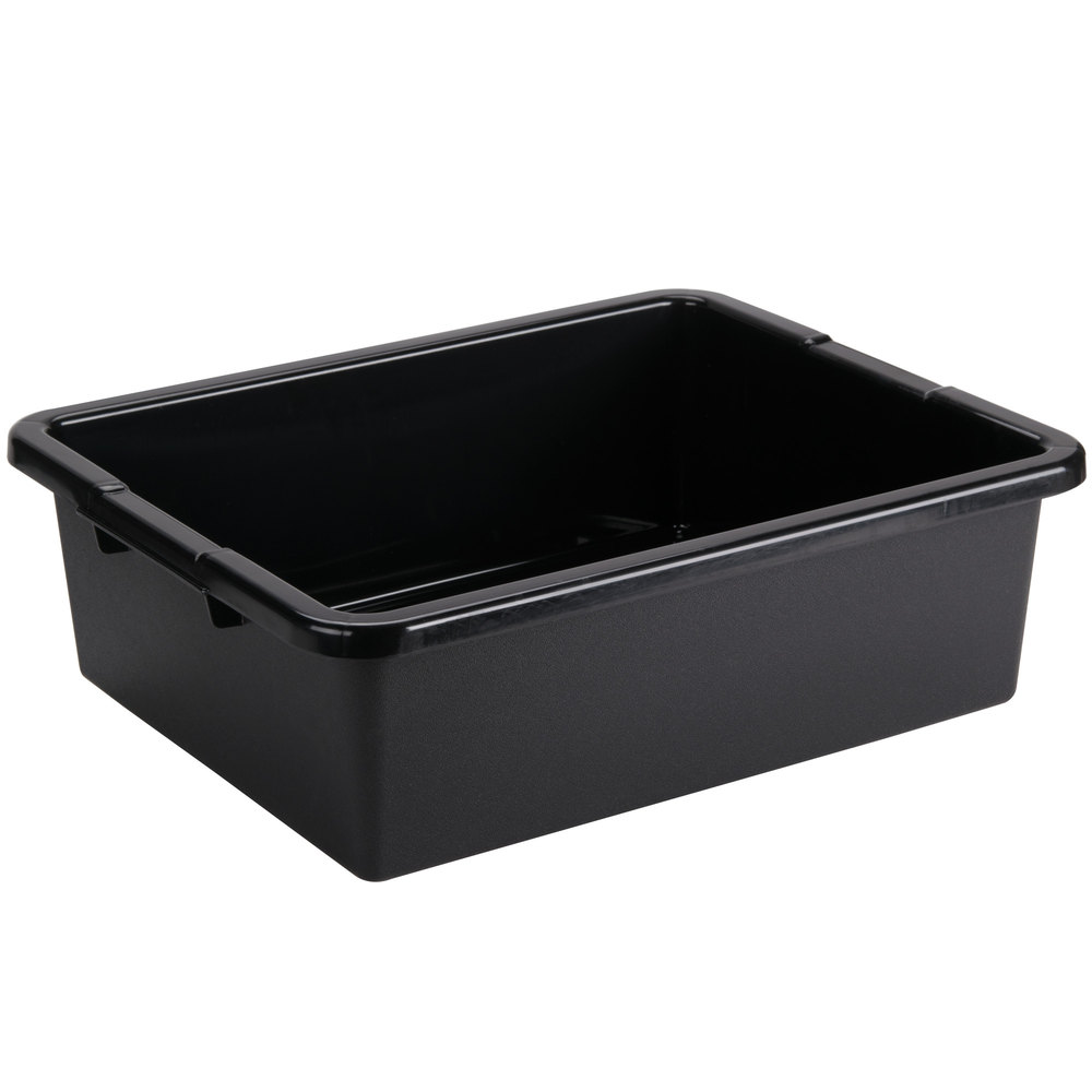 and bus black tub pans inch tablecraft tubs webstaurantstore boxes polyethylene x plastic